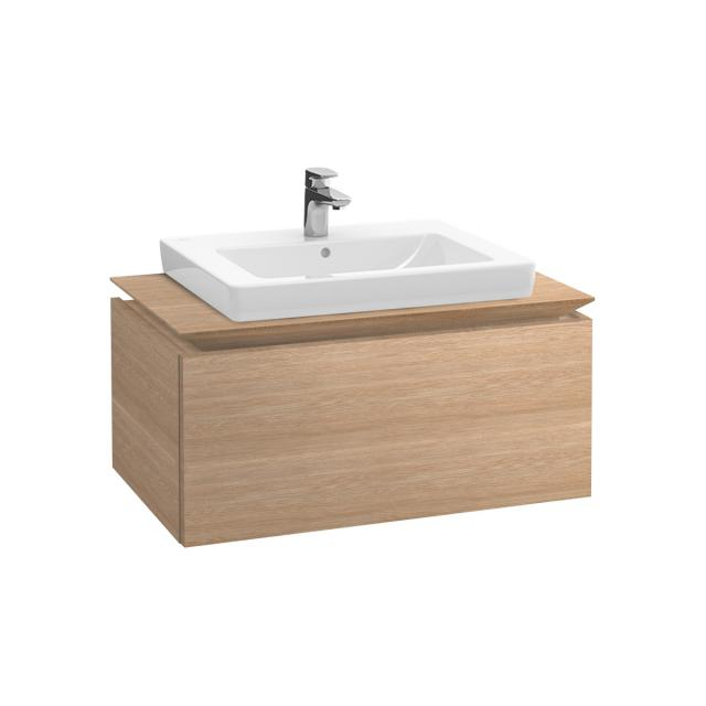 Villeroy & Boch Legato vanity unit with 1 pull-out compartment front impresso elm / corpus impresso elm