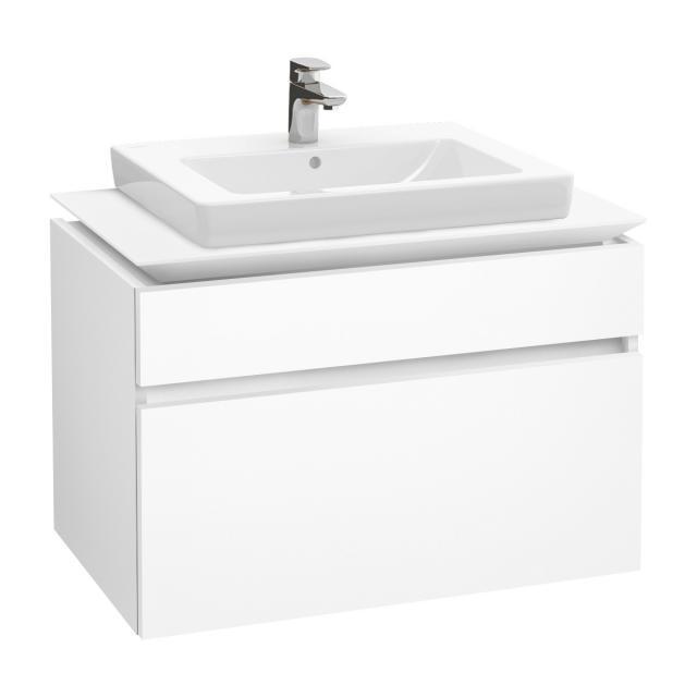 Villeroy & Boch Legato vanity unit with 2 pull-out compartments front matt white / corpus matt white