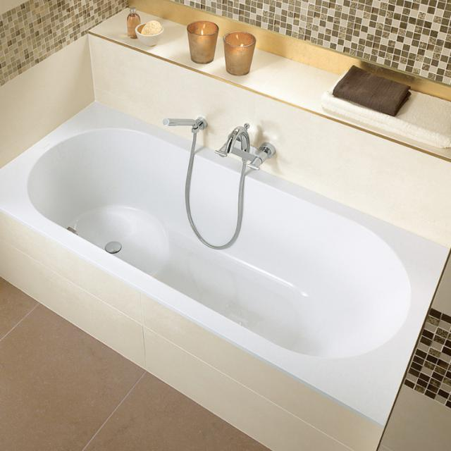 Villeroy & Boch Libra rectangular bath with shower zone, built-in white