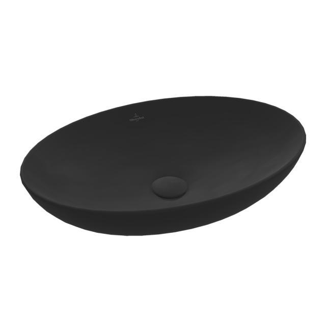 Villeroy & Boch Loop & Friends countertop washbasin ebony, with CeramicPlus, with overflow