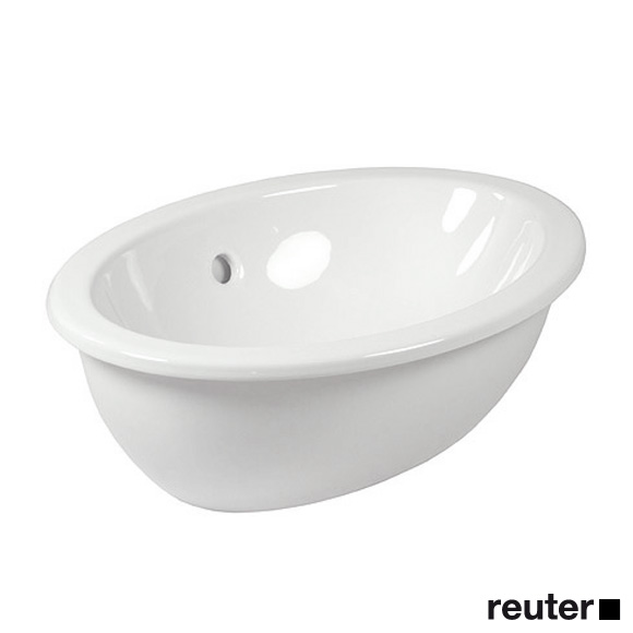 Villeroy & Boch Loop & Friends drop-in washbasin, oval white, with CeramicPlus, with overflow