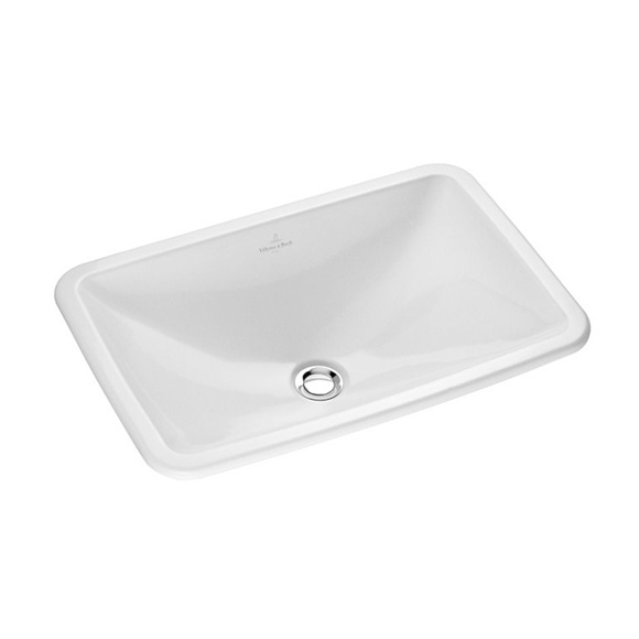 Villeroy & Boch Loop & Friends drop-in basin, square white, with CeramicPlus, with overflow