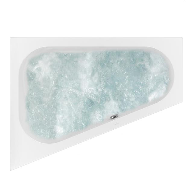 Villeroy & Boch Loop & Friends OVAL corner whirlbath white, with HydroPool Comfort, with bath filler
