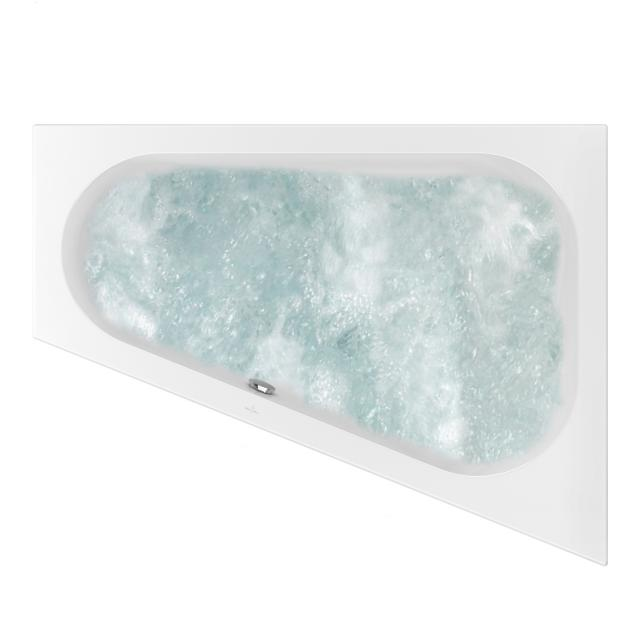 Villeroy & Boch Loop & Friends OVAL corner whirlbath white, with AirPool Entry
