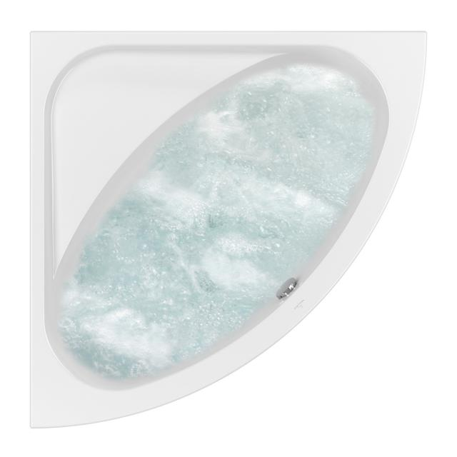 Villeroy & Boch Loop & Friends OVAL Duo corner whirlbath white, with AirPool Entry