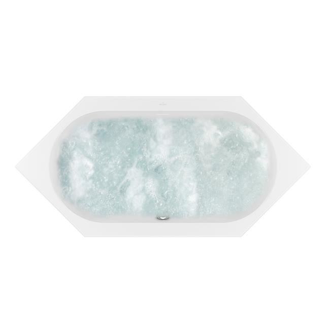 Villeroy & Boch Loop & Friends OVAL Duo hexagonal whirlbath white, with AirPool Entry