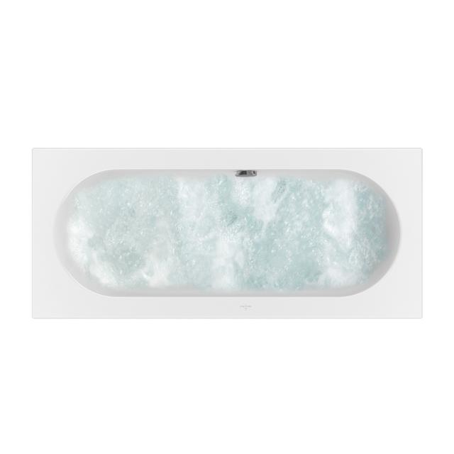 Villeroy & Boch Loop & Friends OVAL rectangular whirlbath, built-in white, with CombiPool Entry, with bath filler