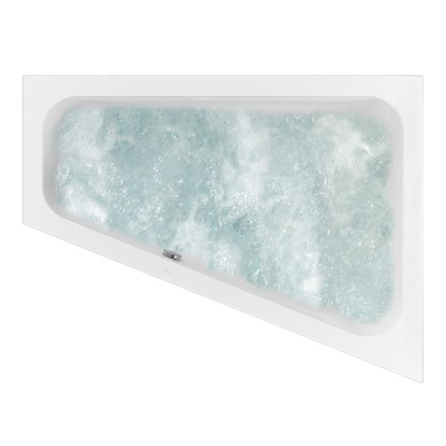 Villeroy & Boch Loop & Friends SQUARE corner whirlbath, built-in white, with CombiPool Comfort, with bath filler