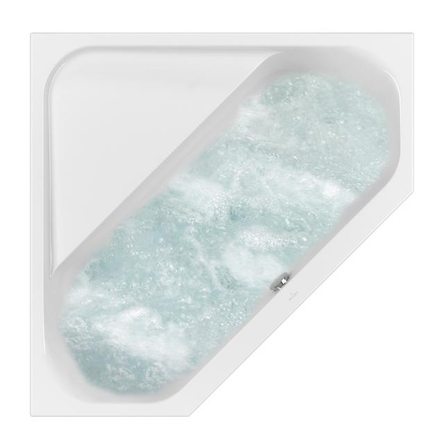 Villeroy & Boch Loop & Friends SQUARE Duo corner whirlbath white, with AirPool Entry