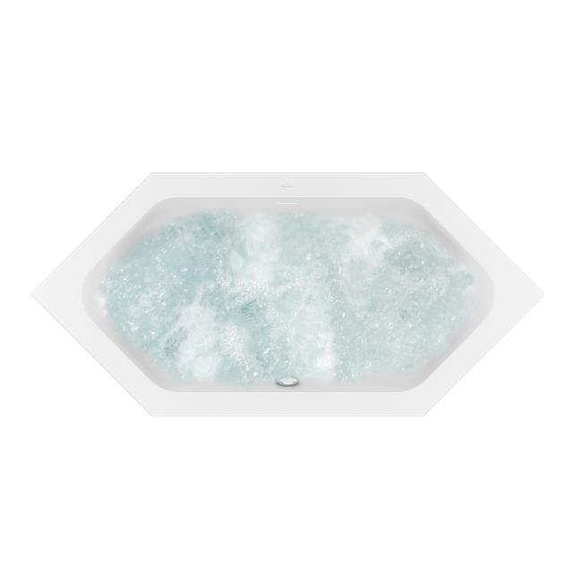 Villeroy & Boch Loop & Friends SQUARE Duo hexagonal whirlbath white, with AirPool Entry
