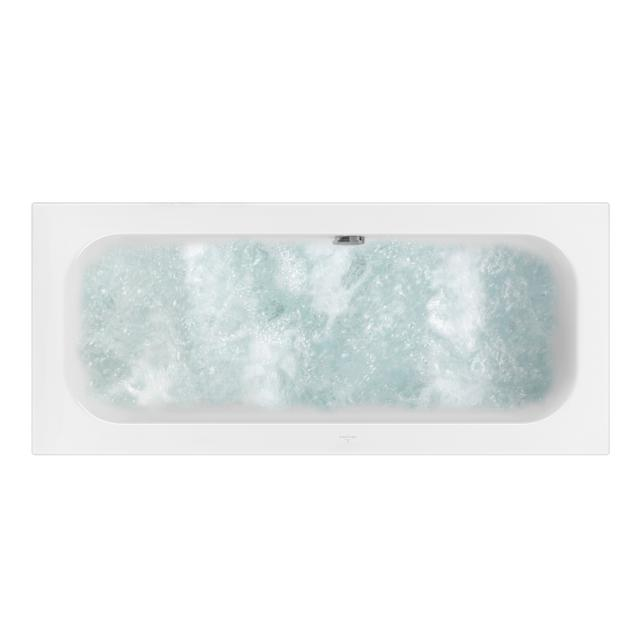 Villeroy & Boch Loop & Friends SQUARE rectangular whirlbath, built-in white, with AirPool Entry