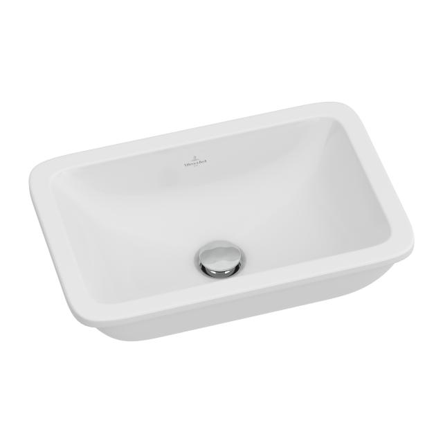Villeroy & Boch Loop & Friends undercounter basin, square white, with CeramicPlus, with overflow