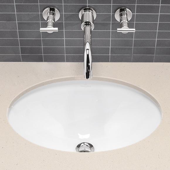 Villeroy & Boch Loop & Friends undercounter washbasin white, with CeramicPlus, with overflow
