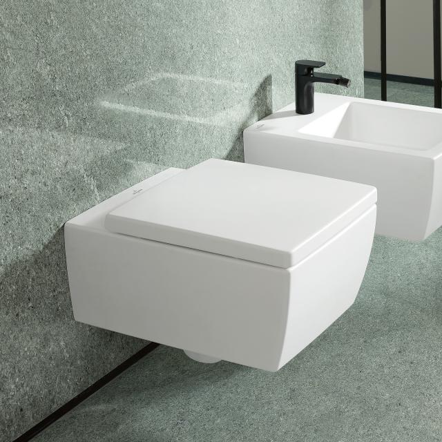 Villeroy & Boch Memento 2.0 wall-mounted washdown toilet, rimless white, with CeramicPlus