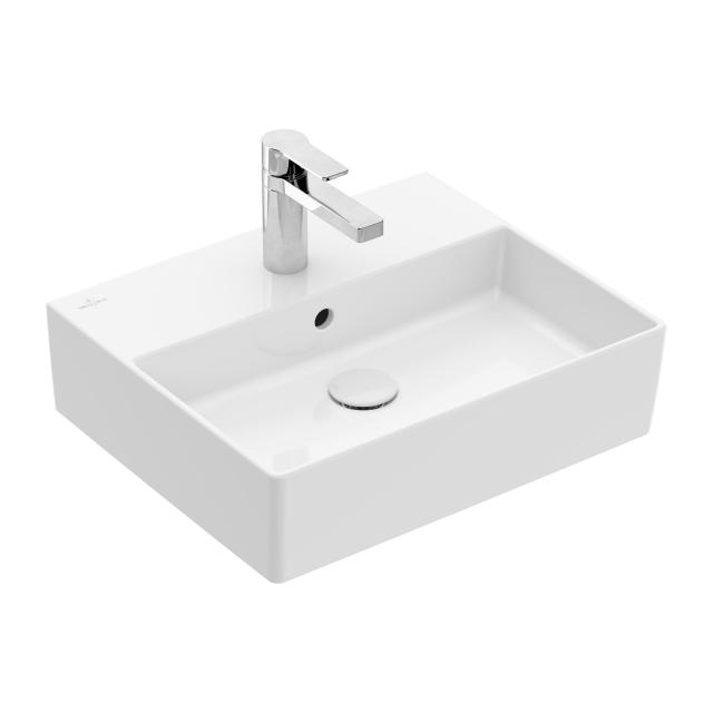 Villeroy & Boch Memento 2.0 washbasin white, with CeramicPlus, with 1 tap hole, with overflow, ungrounded