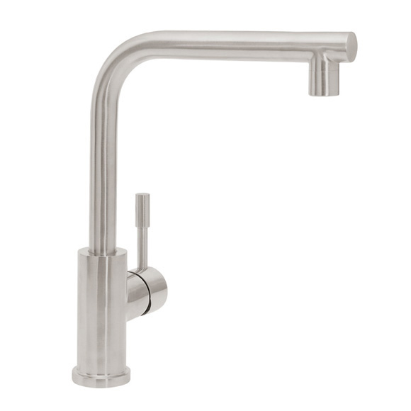 Villeroy & Boch Modern Steel single lever kitchen mixer, low pressure stainless steel