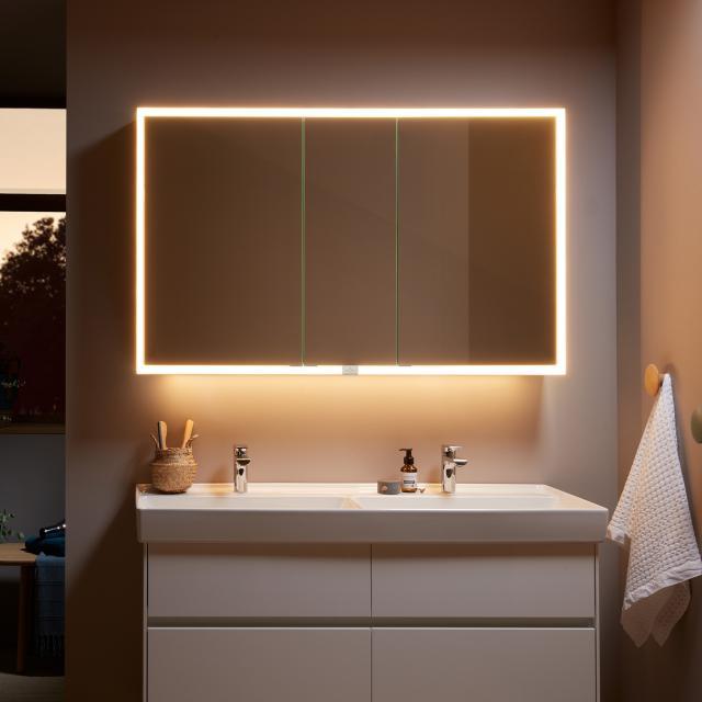 Villeroy & Boch My View Now Armoire de toilette en applique avec éclairage LED et 3 portes Avec variateur sensoriel