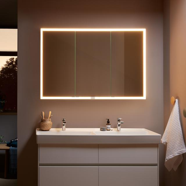 Villeroy & Boch My View Now recessed mirror cabinet with LED lighting with 3 doors with sensor dimmer