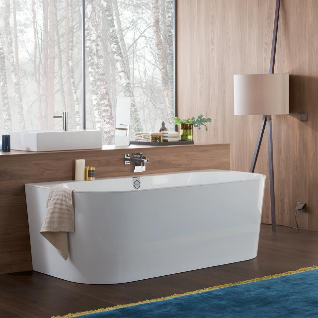 Villeroy & Boch Oberon 2.0 back-to-wall bath with panelling white