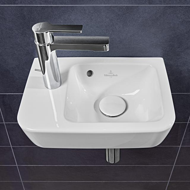 Villeroy & Boch O.novo Compact hand washbasin white, with overflow
