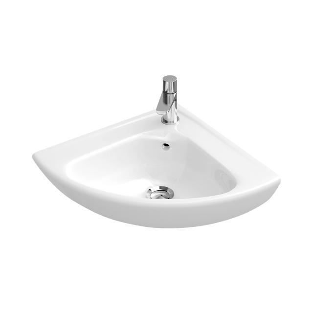 Villeroy & Boch O.novo corner hand washbasin white, with CeramicPlus