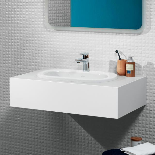 Villeroy & Boch O.novo drop-in basin white, without overflow