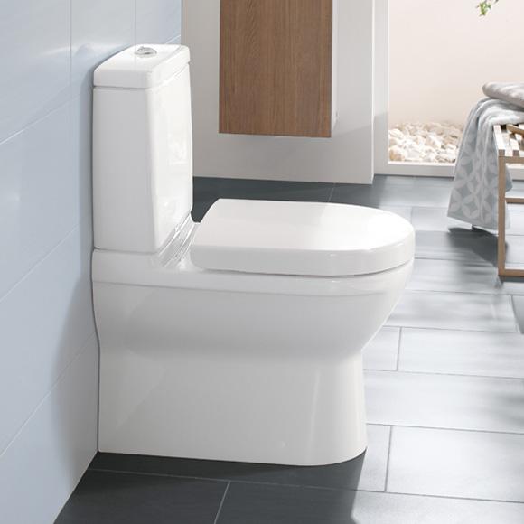 Villeroy & Boch O.novo floorstanding close-coupled washdown toilet white, with CeramicPlus