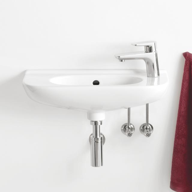 Villeroy & Boch O.novo hand washbasin Compact white, with 1 tap hole, with overflow