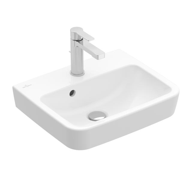 Villeroy & Boch O.novo hand washbasin white, with 1 tap hole, ungrounded, with overflow