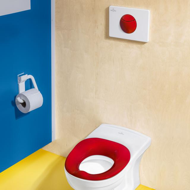 Villeroy & Boch O.novo Kids flush plate red/white