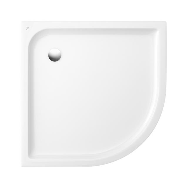 Villeroy & Boch O.novo Receveur de douche en quart de cercle blanc, avec Antislip