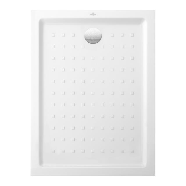 Villeroy & Boch O.novo square/rectangular shower tray with nubs white