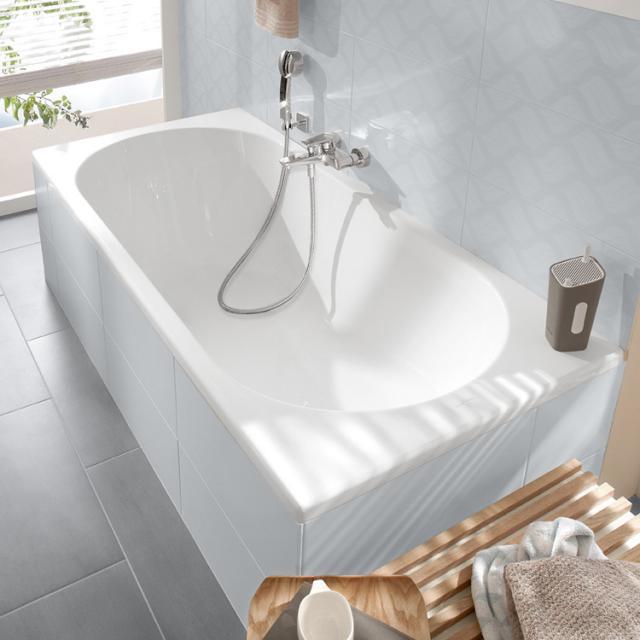 Villeroy & Boch O.novo Solo rectangular bath, built-in white