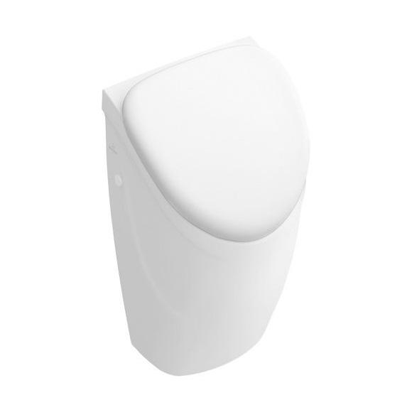 Villeroy & Boch O.novo urinal, rear supply white, with CeramicPlus, with lid mounting