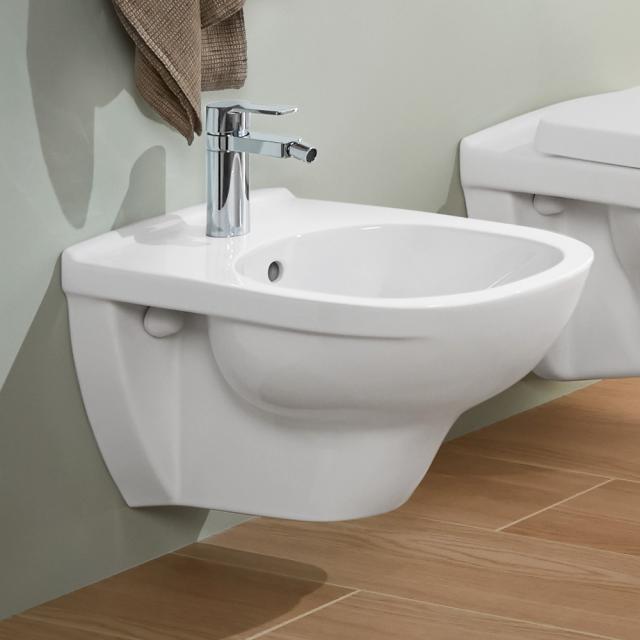Villeroy & Boch O.novo wall-mounted bidet white, with CeramicPlus