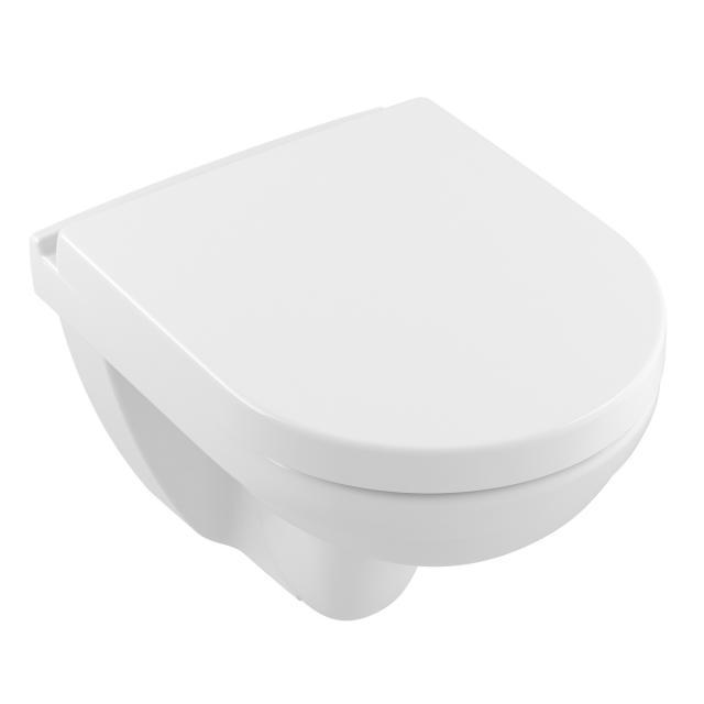 Villeroy & Boch O.novo wall-mounted washdown toilet Compact rimless, white, with CeramicPlus