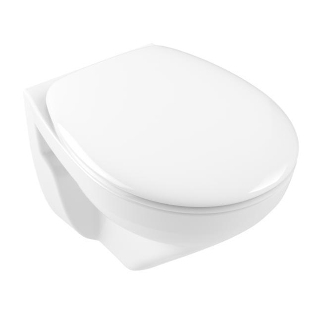 Villeroy & Boch O.novo wall-mounted washdown toilet Compact, open flush rim white