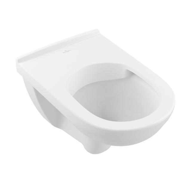 Villeroy & Boch O.novo wall-mounted washdown toilet, open flush rim, DirectFlush white, with CeramicPlus