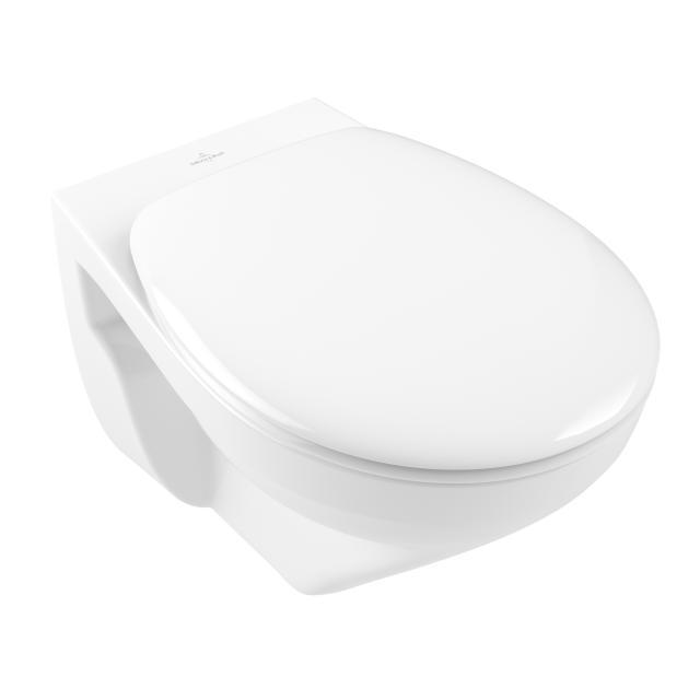 Villeroy & Boch O.novo wall-mounted washdown toilet, open flush rim, with toilet seat