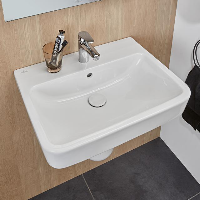 Villeroy & Boch O.novo washbasin white, with 1 tap hole, ungrounded, with overflow