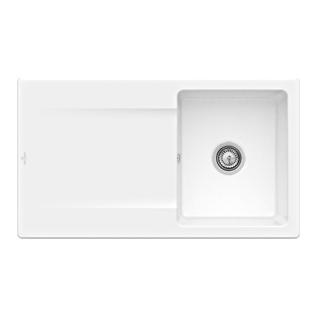 Villeroy & Boch Siluet 50 built-in sink with draining board snow white/without tap hole