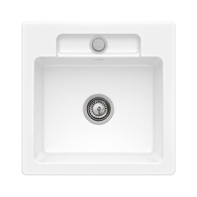 Villeroy & Boch Siluet 50 S Flat sink flush-mounted white alpine high gloss/without borehole