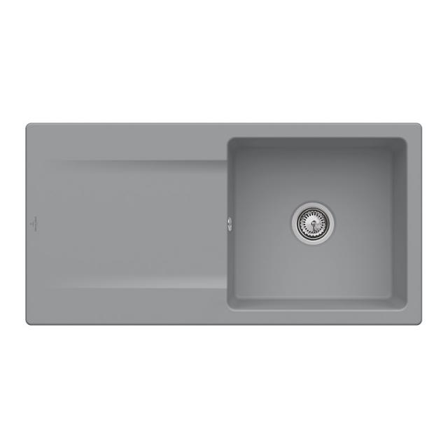 Villeroy & Boch Siluet 60 built-in sink with draining board stone/without tap hole