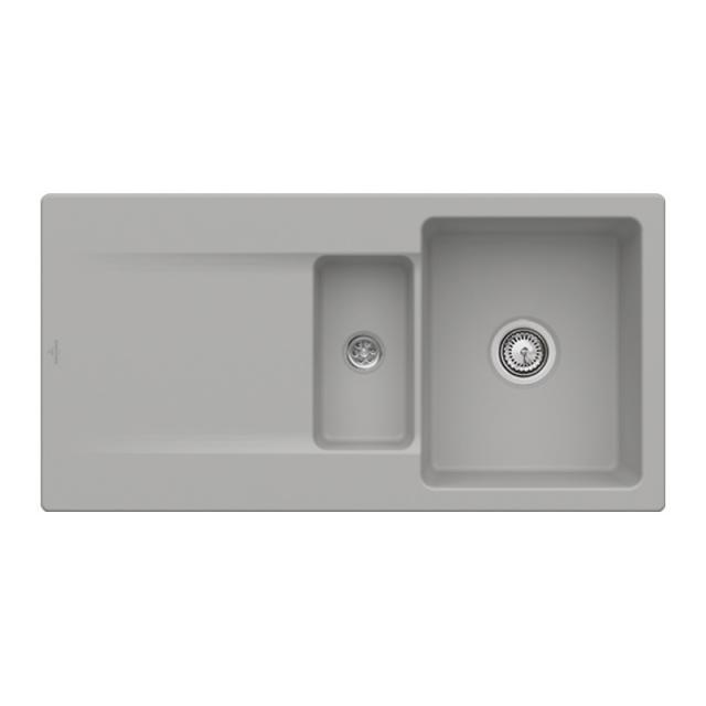 Villeroy & Boch Siluet 60 R built-in sink with draining board fossil/without tap hole