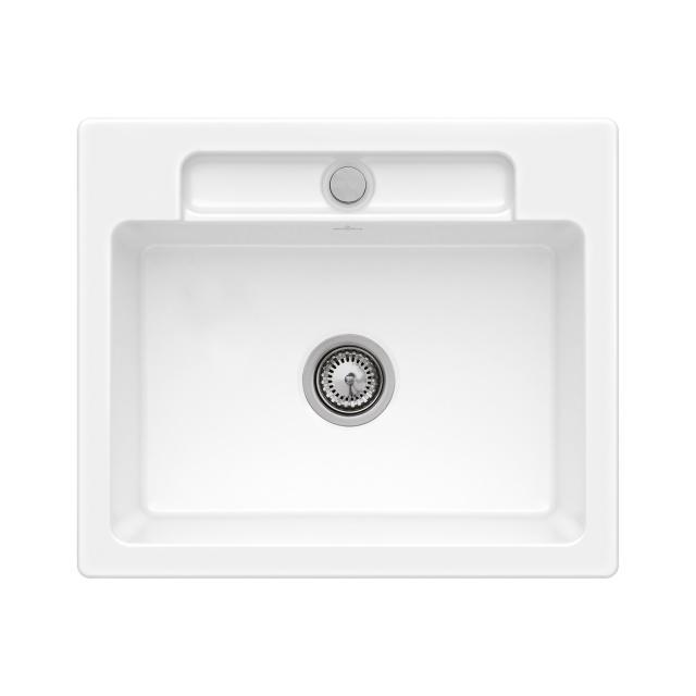 Villeroy & Boch Siluet 60 S Flat sink flush-mounted white alpine high gloss/without borehole