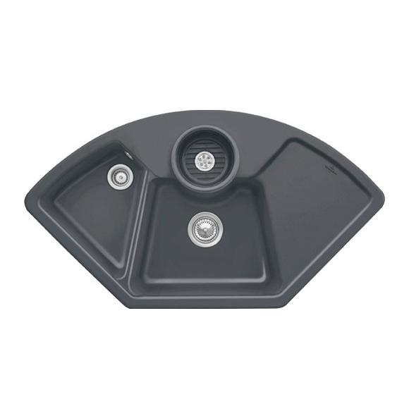 Villeroy & Boch Solo corner sink graphite/position borehole 1