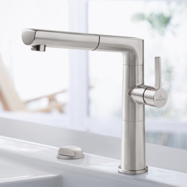 Villeroy & Boch Sorano Sky Shower single lever kitchen mixer