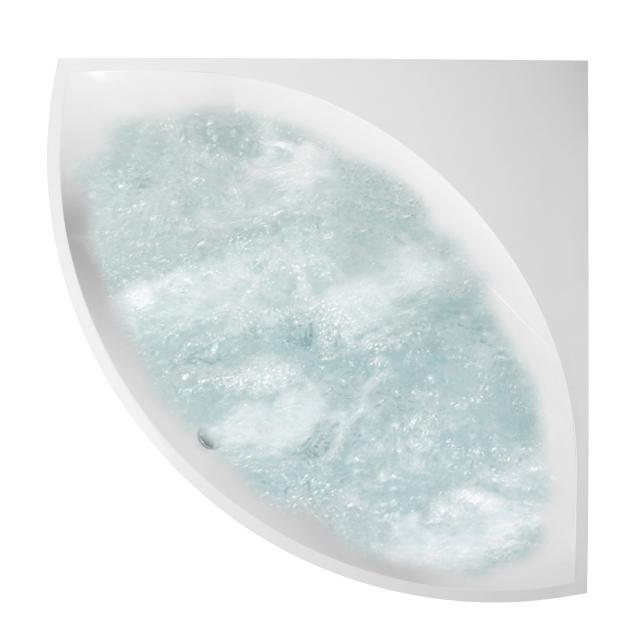 Villeroy & Boch Squaro corner whirlbath, built-in white, with AirPool Entry