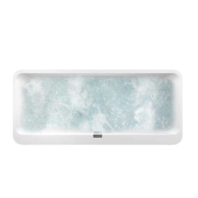 Villeroy & Boch Squaro Edge 12 Duo oval whirlbath, built-in white, with CombiPool Entry