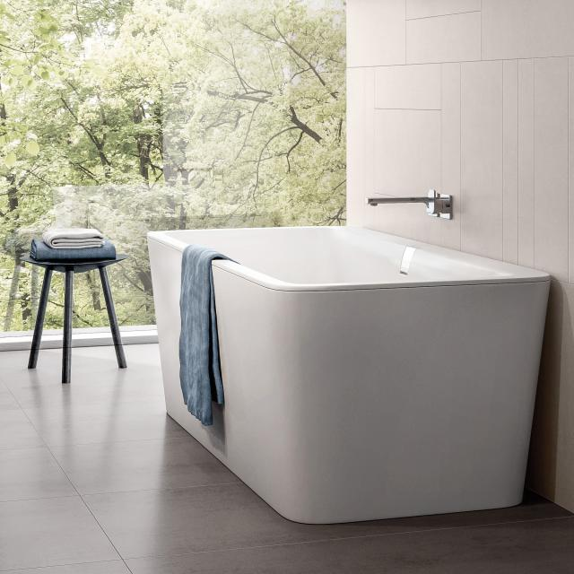 Villeroy & Boch Squaro Excellence duo freestanding rectangular bath stone white, without integrated water inlet